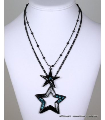 collier constellation bleu