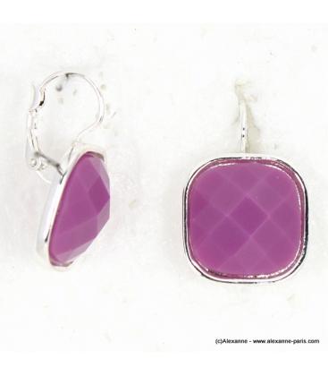 Boucles d'Oreille Punchy violet