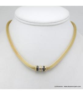Collier doré métal