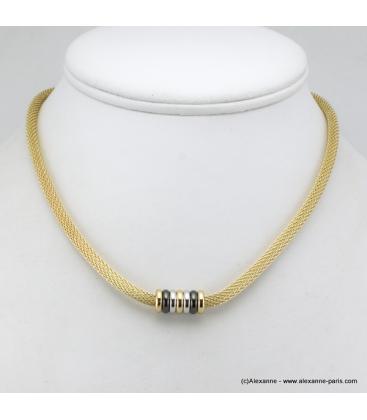 Collier doré métal doré