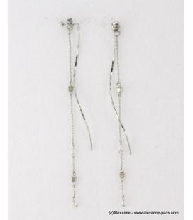 Longues boucles d'oreilles pendantes métal