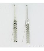 Longues boucles d'oreille chaîne en métal
