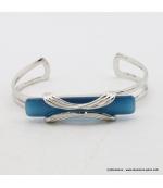 Bracelet rectangulaire oeil de chat métal