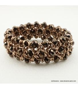 Bracelet vintage métal et cristal