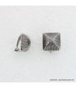 Boucles d'oreilles vintage à clips en métal