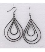 Boucles d'oreilles ovales en métal