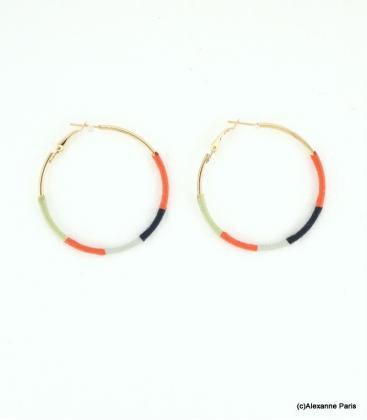 Boucles d'oreilles Créoles Julie Oranges