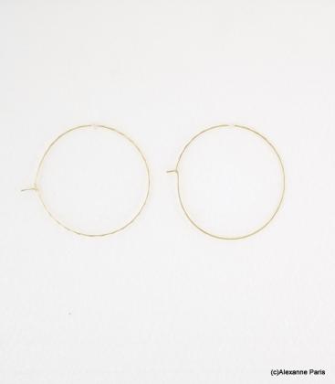 Boucles d'oreilles Créoles Laura Dorées