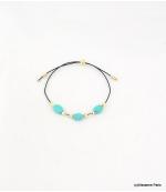 Bracelet Perles Marine Turquoise