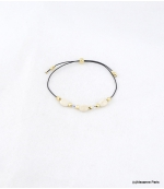 Bracelet Perles Marine Blanc