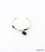 Bracelet Jonc Ouvrable Clémence Noir