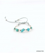Bracelet Macramé Maeva Turquoise