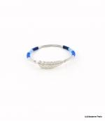 Bracelet Jonc Feuille Joyce Bleu