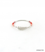 Bracelet Jonc Feuille Joyce Rouge