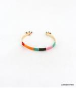 Bracelet Jonc Ouvrable Gaëlle Multi-couleurs