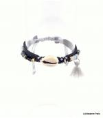 Bracelet Coquillage Macramé Morgane