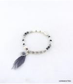 Bracelet Elastique Perles Aline Noir