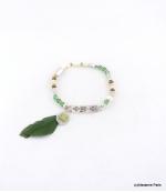 Bracelet Elastique Perles Aline Vert