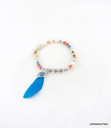 Bracelet Elastique Perles Aline Multi-Couleurs