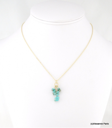 Collier Grappe Lola Turquoise