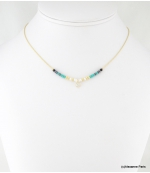 Collier Ras du Cou Marilyn Turquoise