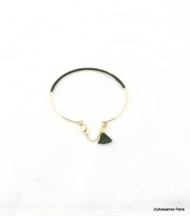 Bracelet Jonc Fermé Eva Vert