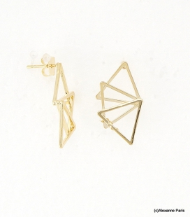 Boucles d'oreilles Triangles Laurine