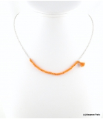 Collier Effet Cristal Maelys Orange