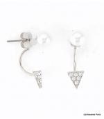 Boucles d'oreilles Dessous de Lobe Céline Argenté
