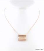 Collier Tubes Cyrielle Beige