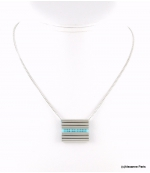 Collier Tubes Cyrielle Turquoise