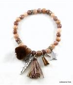 Bracelet Elastique Jade Marron