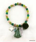 Bracelet Elastique Jade Vert