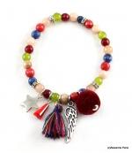 Bracelet Elastique Jade Multi couleurs