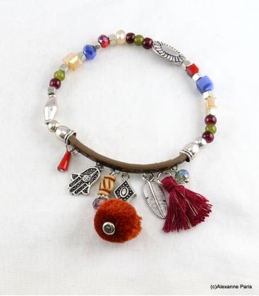 Bracelet Pompon Arbre Anne Multi Couleurs