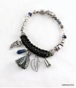 Bracelet Corne Abondance Mia Noir