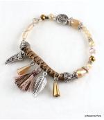 Bracelet Corne Abondance Mia Marron