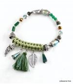 Bracelet Corne Abondance Mia Vert