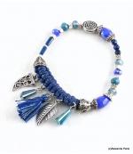 Bracelet Corne Abondance Mia Bleu Foncé