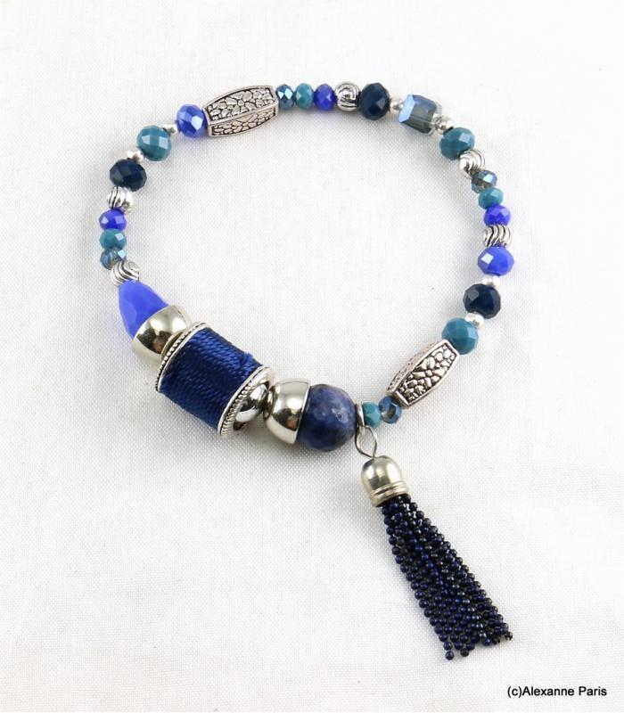 bracelet elastique perles doriane bijoux fantaisie alexanne paris. Black Bedroom Furniture Sets. Home Design Ideas