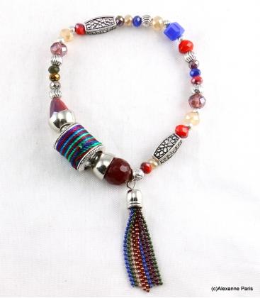 Bracelet Elastique Perles Doriane Multi Couleurs