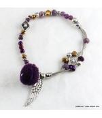 Bracelet Elastique Chaînes Cassandra violet