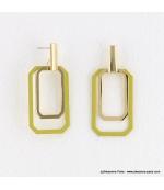 Boucles d'oreilles géométriques Emma jaune