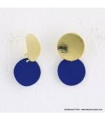 Boucles d'oreilles pièce métal Anastasia