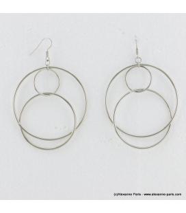 Boucles d'oreilles géométriques oversize Mila