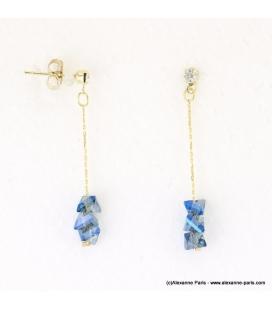Boucles d'oreilles pyramide cristaux Juliette
