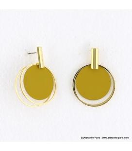 Boucles d'oreilles anneaux superposés Mélodie