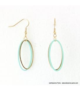 Boucles d'oreilles anneaux ovales Justine