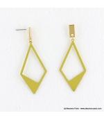 Boucles d'oreilles géométriques losange Camille doré