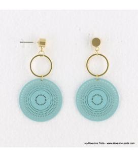 Boucles d'oreilles anneaux et filigrane Naomi